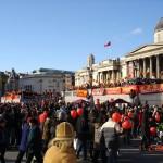 Celebrating Chinese New Year in Trafalgar Square