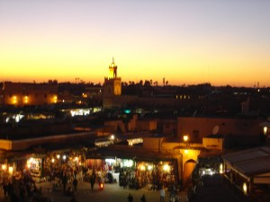 Marrakesh: Sunset over Djemma el Fna